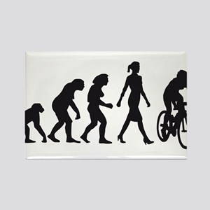 evolution female bicycle racer Rectangle Magnet