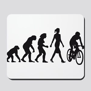 evolution female bicycle racer Mousepad