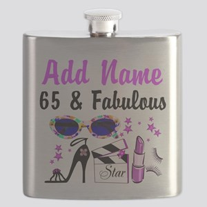 HAPPY 65TH BIRTHDAY Flask
