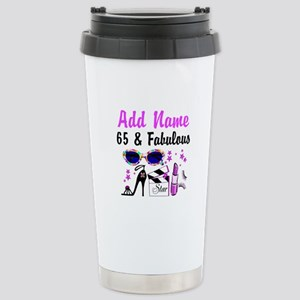 HAPPY 65TH BIRTHDAY Stainless Steel Travel Mug