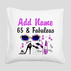 HAPPY 65TH BIRTHDAY Square Canvas Pillow