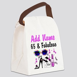 HAPPY 65TH BIRTHDAY Canvas Lunch Bag