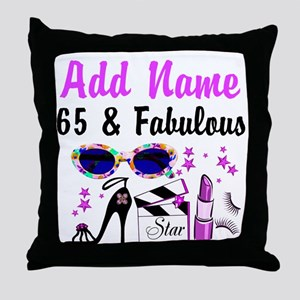 HAPPY 65TH BIRTHDAY Throw Pillow