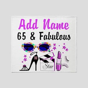 HAPPY 65TH BIRTHDAY Throw Blanket