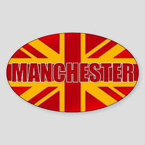 Manchester England Sticker (Oval)