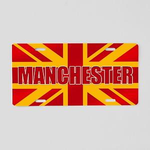 Manchester England Aluminum License Plate