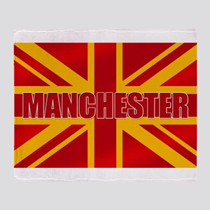 Manchester England Throw Blanket