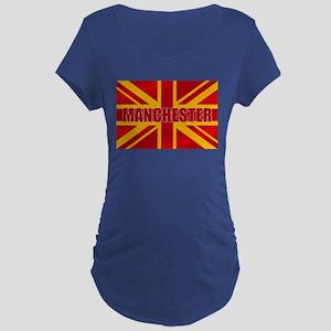 Manchester England Maternity Dark T-Shirt