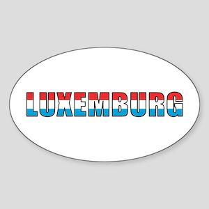 Luxembourg (German) Oval Sticker