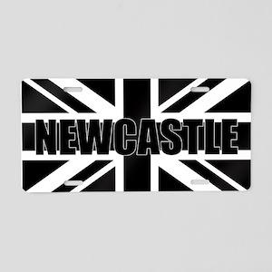 Newcastle England Aluminum License Plate