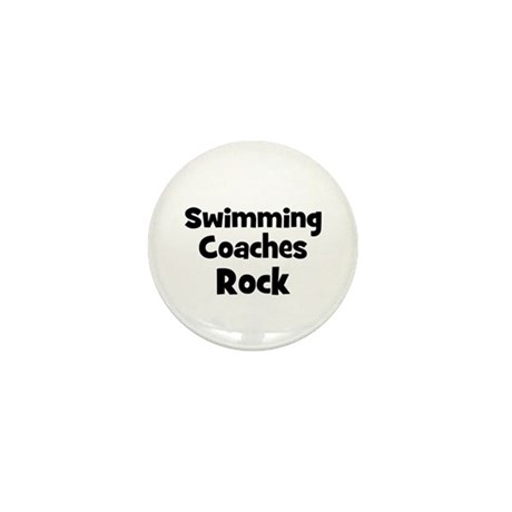 SWIMMING COACHES Rock Mini Button
