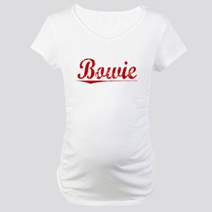 Bowie, Vintage Red Maternity T-Shirt