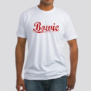 Bowie, Vintage Red Fitted T-Shirt