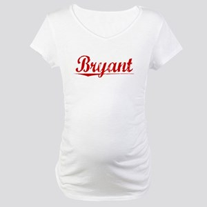 Bryant, Vintage Red Maternity T-Shirt