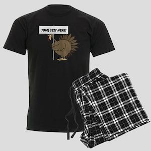 Turkey with Sign Men's Dark Pajamas