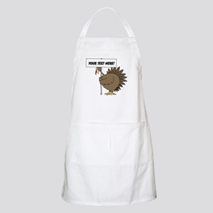 Turkey with Sign Apron