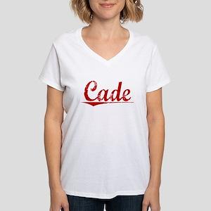 Cade, Vintage Red Women's V-Neck T-Shirt