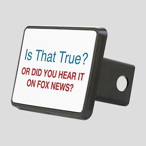 Anti Fox News Rectangular Hitch Cover