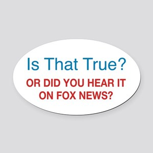 Anti Fox News Oval Car Magnet