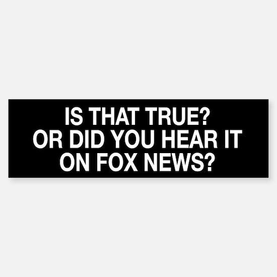 Anti Fox News Sticker (Bumper)