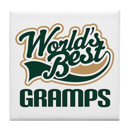 Gramps Gift (Worlds Best) Tile Coaster