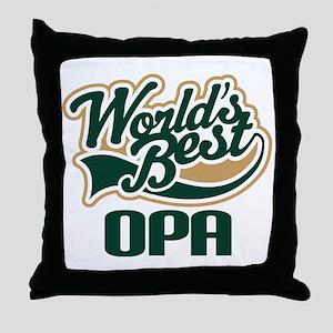 Opa (Worlds Best) Throw Pillow