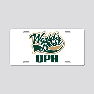 Opa (Worlds Best) Aluminum License Plate