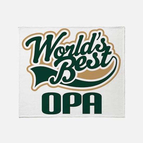 Opa (Worlds Best) Throw Blanket
