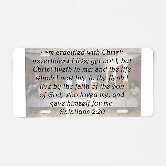 Galatians 2:20 Aluminum License Plate