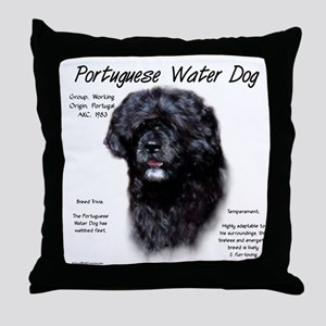Portuguese Water Dog Throw Pillow