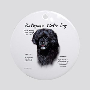 Portuguese Water Dog Round Ornament