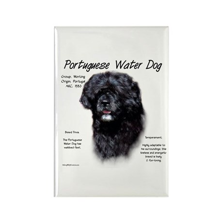 Portuguese Water Dog Rectangle Magnet