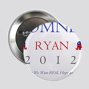 "Romney 2012 REAL Hope and Change 2.25"" Button"