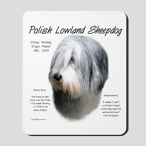 Polish Lowland Sheepdog Mousepad
