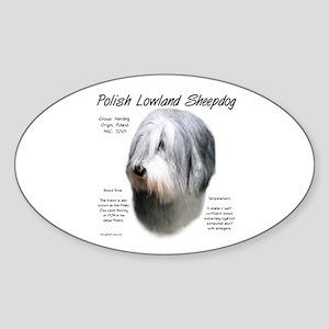 Polish Lowland Sheepdog Sticker (Oval)