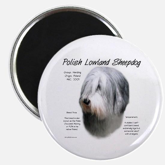 Polish Lowland Sheepdog Magnet