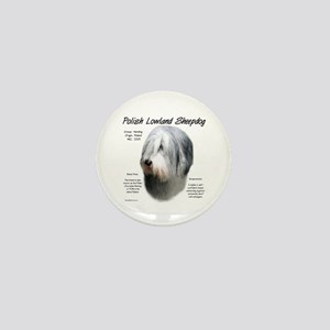 Polish Lowland Sheepdog Mini Button