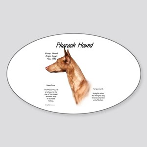 Pharaoh Hound Oval Sticker