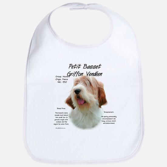 PBGV Cotton Baby Bib