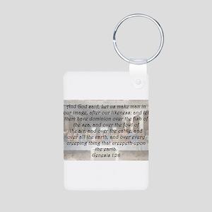 Genesis 1:26 Aluminum Photo Keychain