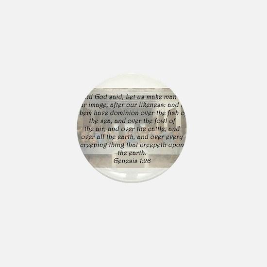 Genesis 1:26 Mini Button