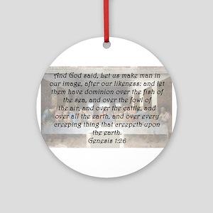 Genesis 1:26 Round Ornament