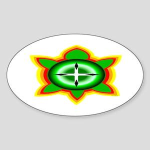 SOUTHEASTERN TRIBAL TURTLE Sticker (Oval)