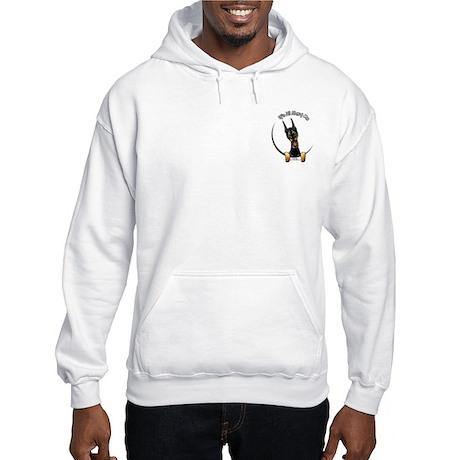 Pocket Doberman IAAM Hooded Sweatshirt
