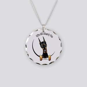 Doberman IAAM Necklace Circle Charm