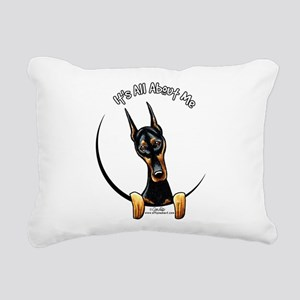 Doberman IAAM Rectangular Canvas Pillow