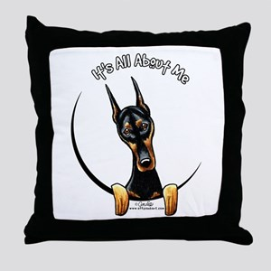 Doberman IAAM Throw Pillow
