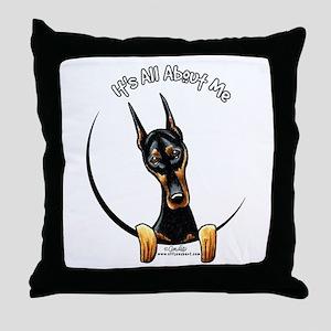 Doberman IAAM Throw Pillow