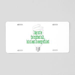 light bulb Aluminum License Plate