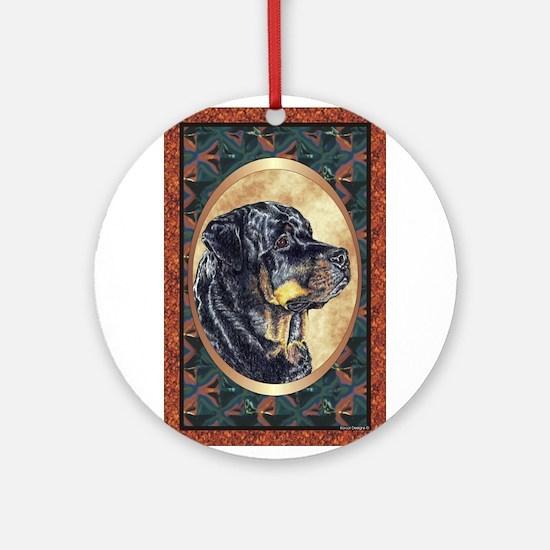 Rottweiler Designer Ornament (Round)